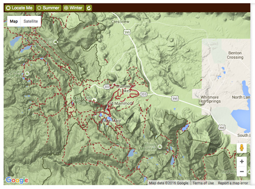 Mammoth Lakes Trail System Map