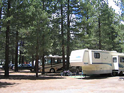 Wooded RV Full Hook-up sites Mammoth Lakes, CA